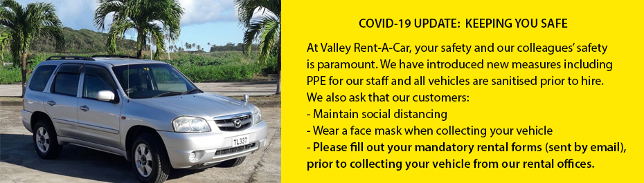 Valley Rent a Car Covid-19 Customer Update